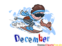 December Illustration - Month Clip Art free