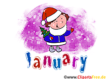 January Illustration - Month Clip Art free