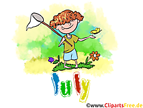 July Illustration - Month Clip Art free
