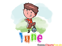 June Illustration - Month Clip Art free