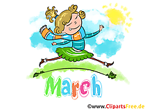 March Illustration - Month Clip Art free