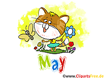 May Illustration - Month Clip Art free
