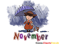 November Illustration - Month Clip Art free