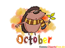October Illustration - Month Clip Art free