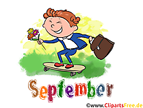 September Illustration - Month Clip Art free