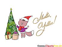 Mutlu Noeller ve Mutlu Yeni Yıl Clipart ücretsiz İndirme