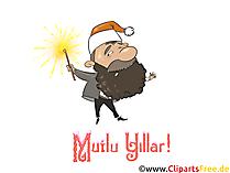 Mutlu Noeller ve Mutlu Yeni Yıl E-Karti ücretsiz İndirme