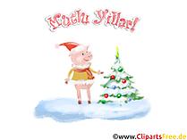 Mutlu Noeller ve Mutlu Yeni Yıl PNG ücretsiz İndirme