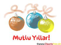 Mutlu yeni yıl tebrik kartı ücretsiz indir