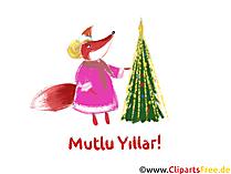 Mutlu Yıllar Clipart - Happy New Year Clip Art