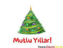 Noel ağacı küçük resim - Yeşil Basit Noel Ağacı PNG küçük Resim