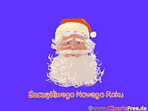 Kartka-Wesołych Świąt i Szczęśliwego Nowego Roku