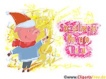 Kliparty Nowy Rok darmowe