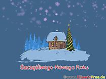 Szczęśliwego Nowego Roku kartka elektroniczna
