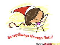 Wesołych Świąt i szczęśliwego Nowego Roku Clipart