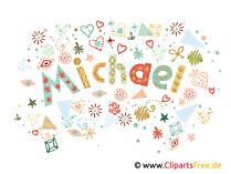 Michael Vorname Mann dekorative Buchstaben Design