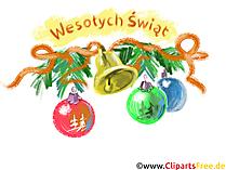 Wesołych Świąt Bożego Narodzenia Kliparty darmowy