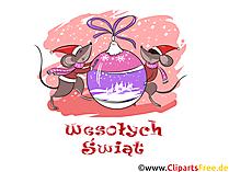 Wesołych Świąt kartka, Boże Narodzeni clipart