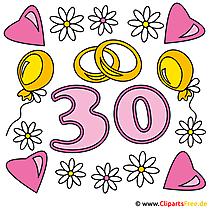 30 Hochzeitstag Perlenhochzeit Karte