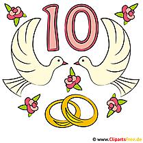 Einladung zur Rosen-Hochzeit mit unseren Cliparts selbst gestalten