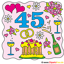 Hochzeitstage - 45 Jahr - Messinghochzeit
