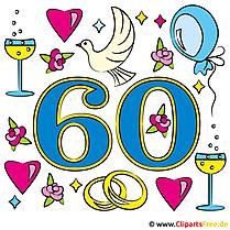 結婚記念日 -  60ダイヤモンドウェディング - おめでとうございます