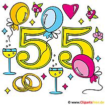 結婚記念日リスト - ジュエル結婚式55年