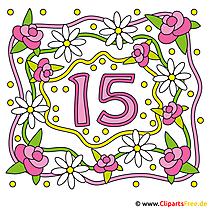Kristallene Hochzeit 15 Jahre Ehe zusammen Gluckwunschkarte