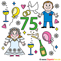 Kronjuwelen-Hochzeit Clipart-Karte