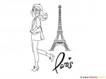 에펠 탑 클립 아트-파리 이미지, 고해상도 도면