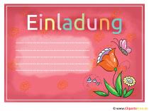 Einladungen - Einladungskarten selbst gestalten Bilder, Cliparts ...