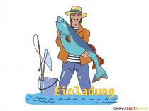 Visser Clipart - visserij uitnodiging