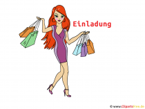 Invitation to Shopping Clip Art