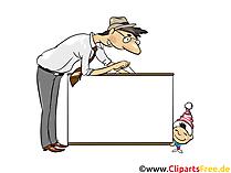 Schild auf weissem Hintergrund Illustration, Bild, Clipart