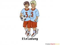 Sjabloonuitnodigingen zzm Soccer Game