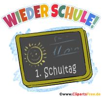 1. Schultag - Wieder Schule - Clipart, Bild, Grafik