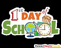 clipart hari sekolah pertama transparan dalam format PNG