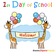 hari pertama sekolah dalam clipart bahasa inggris, ilustrasi, gambar, kartu