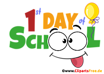 Hari pertama di sekolah (pendaftaran) dalam clipart bahasa Inggris
