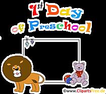 Hari ke-1 Bingkai Prasekolah PNG transparan - clipart tentang topik pendaftaran sekolah