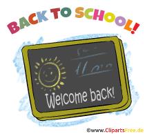 Back to School - Schultafel Clipart, Image, Bild