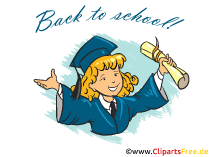 学校に戻るクリップアート、コミック、漫画