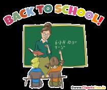 Tillbaka till skolan gratulationskort på engelska - School Clipart