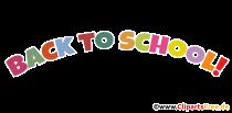 Tillbaka till skolan text på engelska PNG clipart transparent