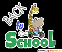 Gambar Kembali ke Sekolah dalam Bahasa Inggris - Clipart Pendidikan Sekolah
