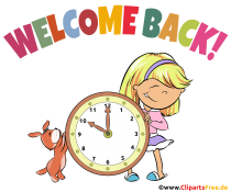 Clipart Willkommen zurück  in der Schule