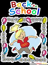 Kembali ke Sekolah Clipart dalam Bahasa Inggris - PNG Transparent