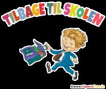 Börjar skolan i Danmark illustration, komisk, tecknad film, clip art