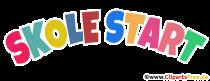 Början av skolan färgglad text som PNG -clipart
