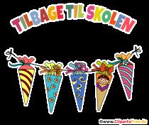 Inbjudningskort för skolkotte på danska för skolstarten